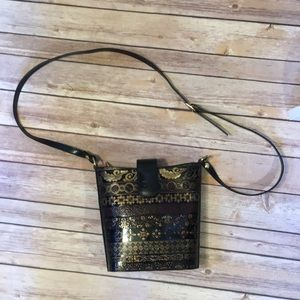 Vintage Crossbody Calja genuine leather bag Italy